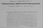 Die Wirkung von Substanzen auf den Netzbau der Spinne…<br><strong>Schweizerischen Medizinischen Wochenschrift</strong>