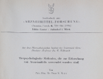Tierpsyehologische Methoden, die zur Erforschung von Arzneimitteln… <br><strong> Pharmakologischen Institut der Universität Bern</strong>