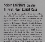 Spider Literature Display In First Floor Exhibit Case