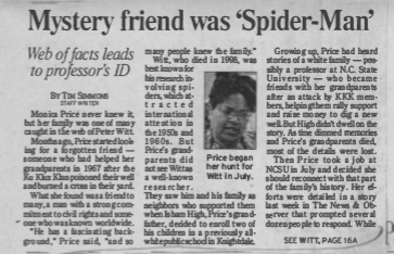 Mystery friend was 'Spider-Man'<br><strong>New Observer</strong>
