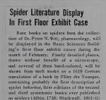 Spider Literature Display In First Floor Exhibit Case
