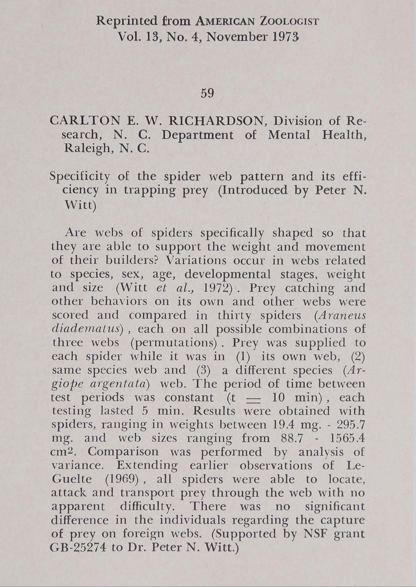 1973-SpecificityOfTheSpiderWev-1