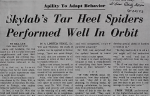 Skylab's Tar Heel Spiders Performed Well in Orbit<br><strong>Daily News</strong>